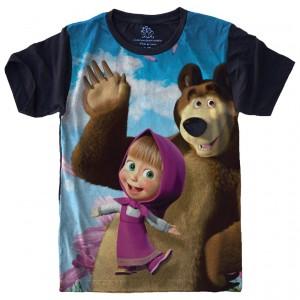 Camiseta Masha e o Urso