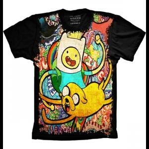 Camiseta Hora de Aventura Jake e Finn