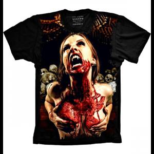Camiseta Caveira Vampira