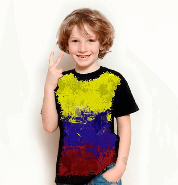 Camiseta Bandeira Da Colombia