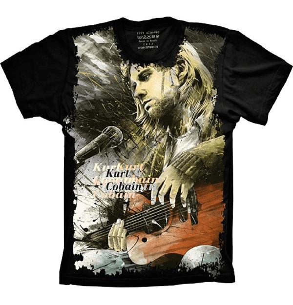 NIRVANA-Kurt Cobain PHOTO B//W T-Shirt