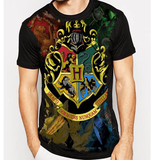 652b01a17 Camiseta Harry Potter Brasão De Hogwarts