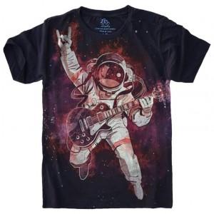 Camiseta Astronauta Rock Guitarra
