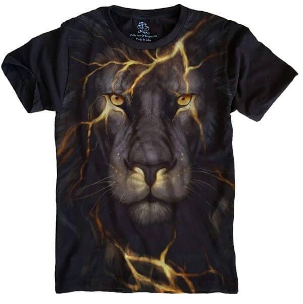 Camiseta Leão Raio Felino 20a8cc273ea73