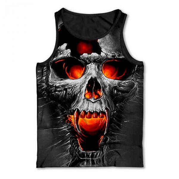 Regata Skull Caveira Vampiro