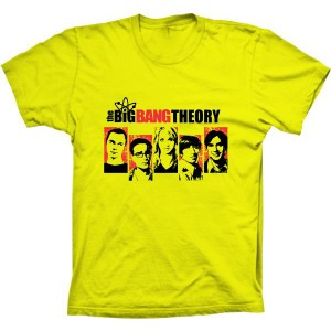 Camiseta The Big Bang Theory Personagens
