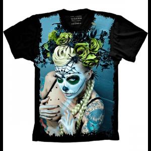 Camiseta Skull Caveira Beautiful Mulher