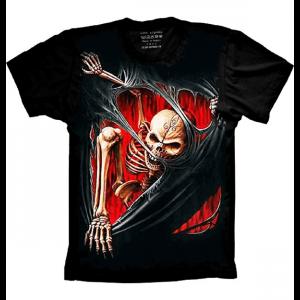 Camiseta Skull Caveira Realista