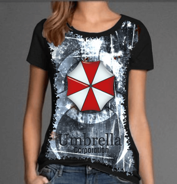 d3d90e879 Camiseta Resident Evil Umbrella Corporation