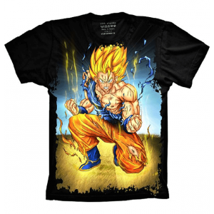 Camiseta Dragon Ball Z Goku Super Sayajin