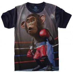 Camiseta Macaco Boxe Primata