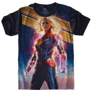 Camiseta Capitã Marvel Tamanho Babylook EG [Última Peça - Liquidação]