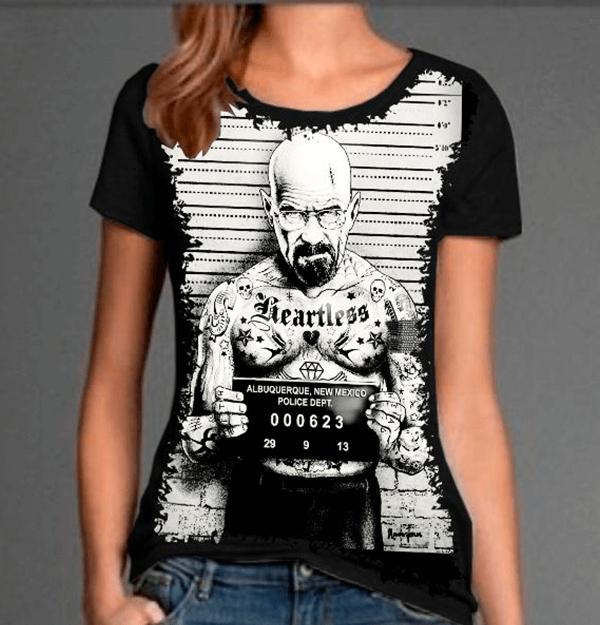 Camiseta Breaking Bad Heisenberg Badass