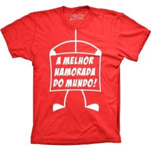Camiseta A Melhor Namorado Do Mundo