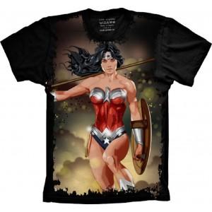 Camiseta Mulher Maravilha Tamanho Feminino Babylook GG [Última Peça - Liquidação]