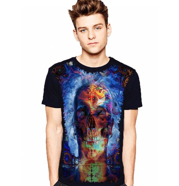 Camiseta Caveira Velha