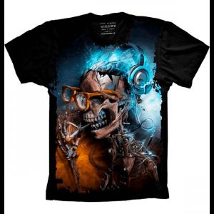 Camiseta Skull Caveira Nerd