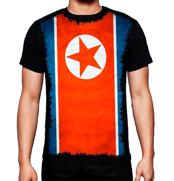 Camiseta Bandeira Da Córeia Do Norte