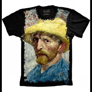 Camiseta Van Gogh Chapeu de Palha