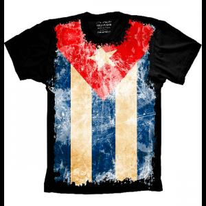 Camiseta Bandeira Da Cuba