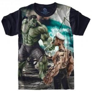 Camiseta Hulk x Popeye Tamanho Plus Size G3 [Última Peça - Liquidação]