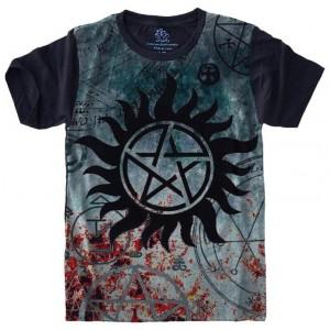 Camiseta Pentagrama Supernatural