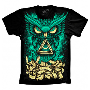 Camiseta Psicodélica Coruja Psy