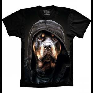 Camiseta Rottweiler Com Toca Malandro