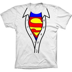 Camiseta Superman Camisa Aberta