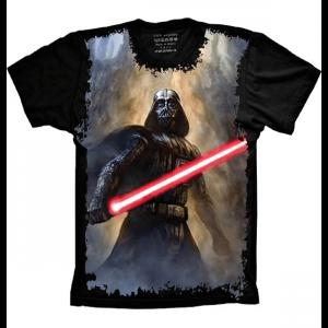Camiseta Star Wars Darth Vader Sabre de Luz