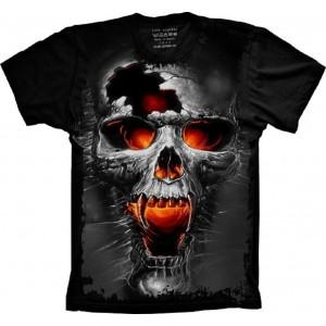 Camiseta Caveira Vampiro Tamanho Plus Size G3 [Última Peça - Liquidação]