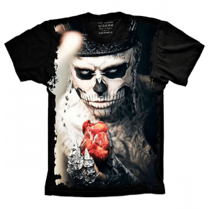 Camiseta Homem Caveira