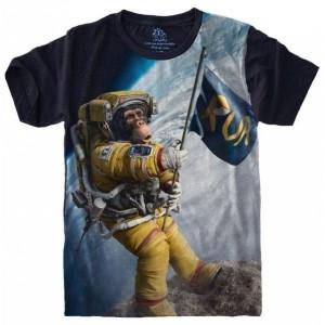 Camiseta Macaco Astronauta