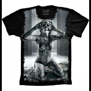 Camiseta Skull Caveira Mulher Cranio