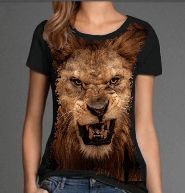 Camiseta Leão Face