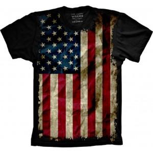 Camiseta Bandeira Dos Estados Unidos Tamanho Babylook G [Última Peça - Liquidação]