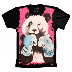 Camiseta Panda Boxeador