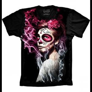 Camiseta Skull Caveira Mexicana Amor