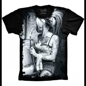 Camiseta Mulher Chavosa Fumaça
