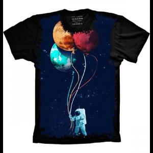 Camiseta Astronauta Balões