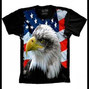 Camiseta Bandeira Dos Estados Unidos Águia