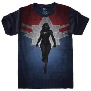 Camiseta Capitã Marvel Tamanho Feminino M [Última Peça - Liquidação]