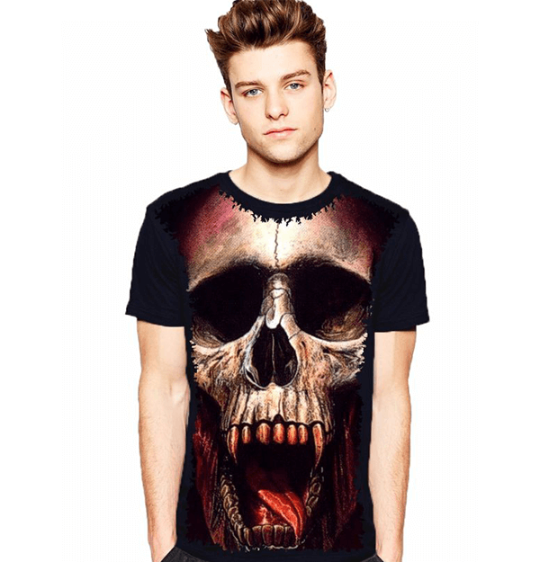Camiseta Skull Vampiro Monstro