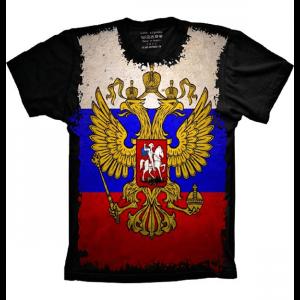 Camiseta Bandeira Da Rússia