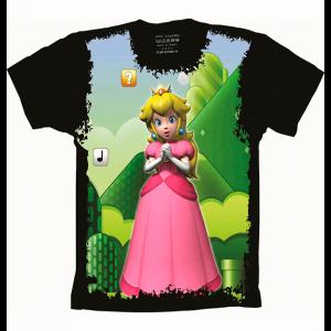 Camiseta Mario Bros Princesa Peach
