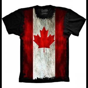 Camiseta Bandeira Do Canadá