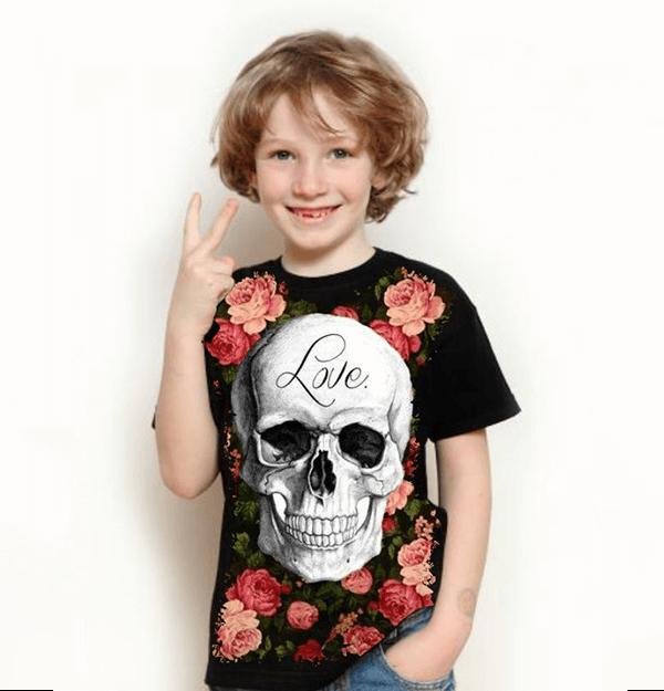 Camiseta Skull Love