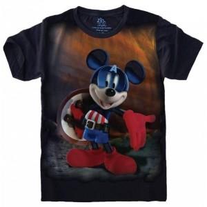Camiseta Mickey Capitão América