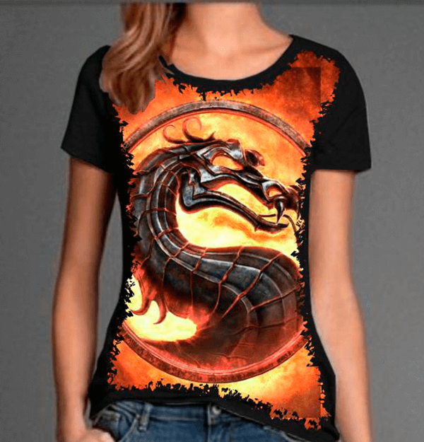 Camiseta Mortal Kombat Dragon