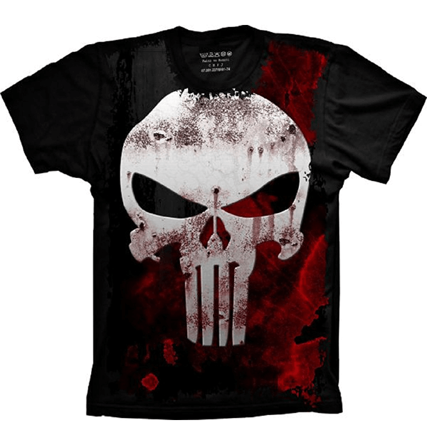 9513a4b7df7 Camiseta Justiceiro The Punisher